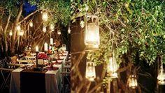 lights, 21st idea, beeswax candles, receptions, outdoor parties, mason jar candles, lighting ideas, garden parties, lanterns