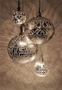 spray paint through lace onto clear ornament.  Beautiful!