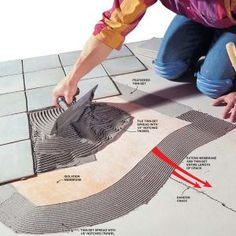 How to Install Floor Tiles Over a Cracked Concrete