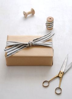 DIY Fabric Gift Wrap: Cozy Parisian Holiday - Home - Creature Comforts - daily inspiration, style, diy projects + freebies