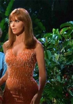 Ginger- Gilligans Island. I used to watch her.  Unfortunatly, she hated every minute of it...but I loved her as Ginger...Personally she was a bitch...