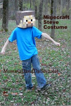 Minecraft Costume DIY Steve MommaDandDaBoyz.net