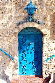 Door to Aladin Restaurant, Old Jaffa, Tel Aviv, Israel