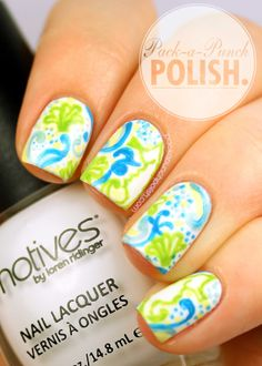 Lilly Pulitzer Crystal Coast Inspired Nail Art + Tutorial