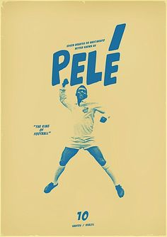 graphic design, football design, zoran lucic, soccer design, king pele, sport, art posters, zoran lucić, print