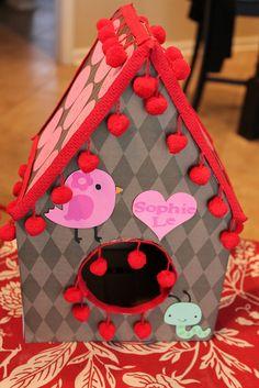 bird house-valentines - valentine box, birdhous, school, valentin box, hous valentin, bird housevalentin, mail boxes
