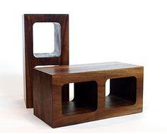 wooden masonry block // stool