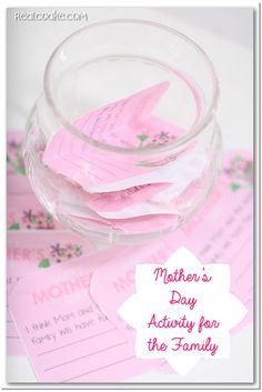 Activities for the Family ~ this one is for Mother's Day from @realcoake.com