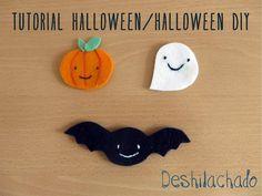 Deshilachado: Tutorial: broches de Halloween / Tutorial: Halloween brooches