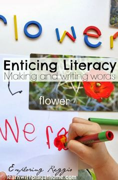 Enticing literacy. Making and writing words.