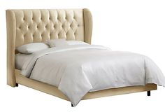 Reed Wingback Bed, Ivory on OneKingsLane.com