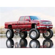 Jacked up Chevy truck Hell yeah! Git R' Done