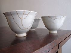 Repaired bowls by RELAXMAX  (Kintsugi: the artful repair of damaged things).