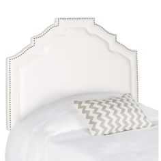 Silhouette Defines The Twin Sized Alexia Grey Linen Headboard