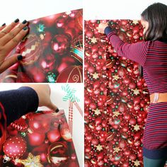 Wrapping paper as a photobooth backdrop- use a matte paper to reduce reflections