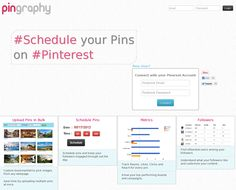 This tool allows users to schedule pins so they go up on the site at specific times. Businesses that use Pinterest to drive traffic to their sites might find that their customers are more likely to click over at certain times. Particularly for business owners that might reserve pinning for the late night hours, this type of tool could definitely help your pins be seen by more pinners or prospective customers.
