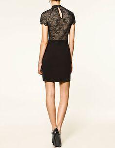 Zara lace back dress.