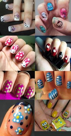 Cool and funky nail art designs