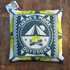 Camping pillow by Man Vs. Ink