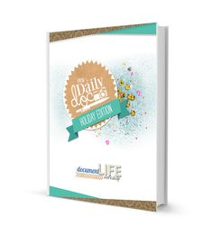 Daily holiday prompts from Document Life Workshop!  Prompts, tips, and a workbook!  Perfect for a holiday art journal or smash book!