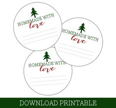Mason Jar Labels for Christmas Gifts