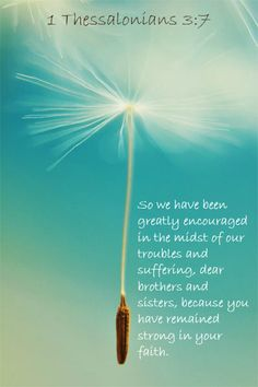 1 Thessalonians 3:7 more at http://ibibleverses.com