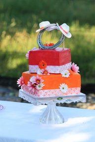 Lucky in Love Horseshoe Wedding Cake wedding cake toppers, lucki, cowboy cake, idea, weddings, cake super, horseshoes, wedding cakes, western stuff