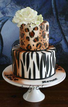 Leopard wedding cake