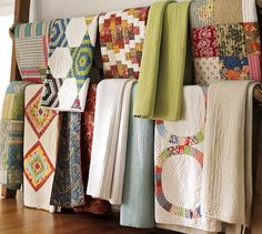 Hanging Quilts - On Long Rails