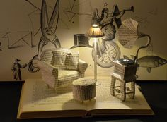 Dont know why - Book Sculpture - Book Art - Altered Book