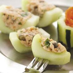 Smoked Salmon Cucumber Canapes - these look great!!!!! definitely trying them!!