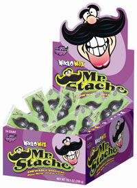 Wack-O-Wax Mr. Stache edible wax mustaches are peanut-free and gluten-free.