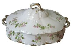haviland pink, haviland limog, limog china, floral serv, pink floral