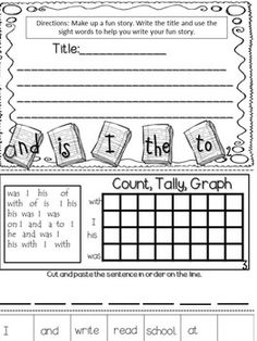 SIGHT WORD BOOKS - TeachersPayTeachers.com