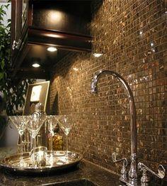 Backsplash for the wet bar