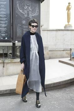 Prada sunglasses with a Mechanical Piano coat and dress, Cheap Monday shoes, and a Maison Martin Margiela bag. piano, dress, coat