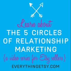 The 5 Circles of Relationship Marketing {Video Series}...woot! #etsy #handmade