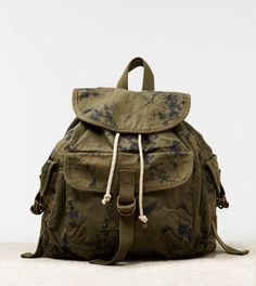 Floral Military Backpack