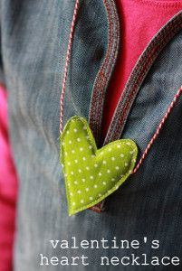 This adorable necklace is super easy for kids to sew.