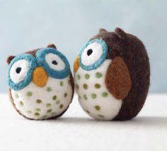 DIY Felted Owls By Jackie Huang - Wool Buddies