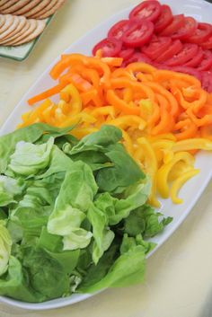 Rainbow veggie display