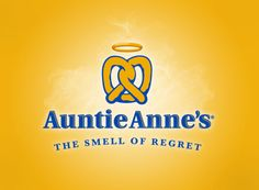 If REGRET has a smell, it would surely be the aroma of freshly cooked Auntie Anne's pretzel wafting through the air! Haha!