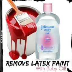 Whatever you're painting, there will be the inevitable moment where you'll manage to get paint on your skin. Getting it off with baby oil is simple, with this Do it Right Tip! #DIY, #Crafts, #painting