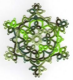 Tatting Rose Snowflake