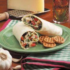 Caesar Chicken Wraps