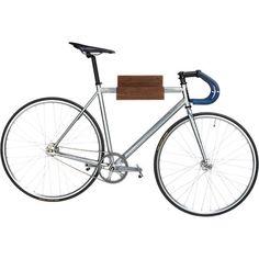 wood bike storage in wall mounted storage | CB2