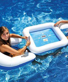 Game Station & Chair Float Set by Swimline #zulily #zulilyfinds