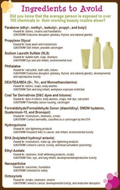 Rid yourself of toxins:  Ingredients to Avoid in beauty products.