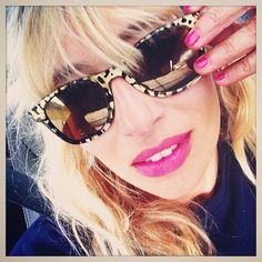 Alexandra Golovanoff showing off her Carrera by Jimmy Choo sunglasses via Instagram