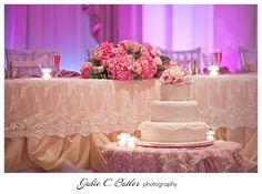 Ottawa-wedding-photographer-Julie-C-Butler - Chateau Laurier Wedding - Marie Antoinette theme light pink & lace decor by WEDECOR  CAKE: Paticceria Gelateria Italiana